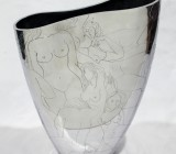 Hand Engraved Silver Vase